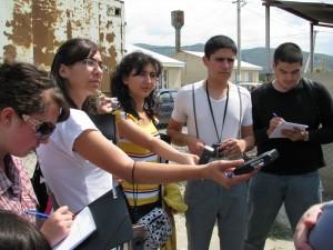 Armenian and Azerbaijani journalists in Berbuki