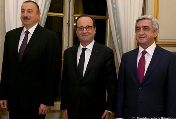 საფრანგეთის, აზერბაიჯანის და სომხეთის პრეზიდენტები