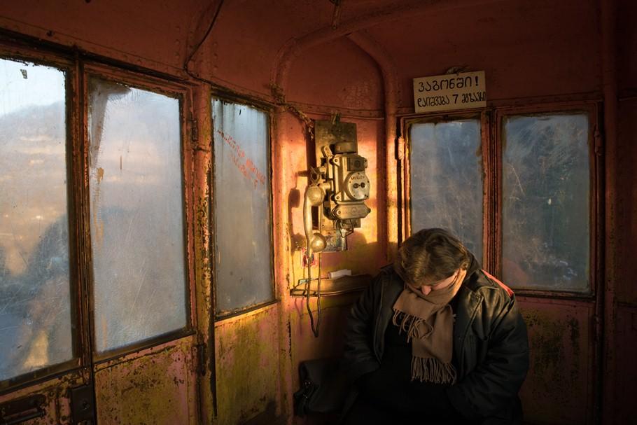 სამგზავრო საბაგიროს სიგნალისტი ჭიათურაში