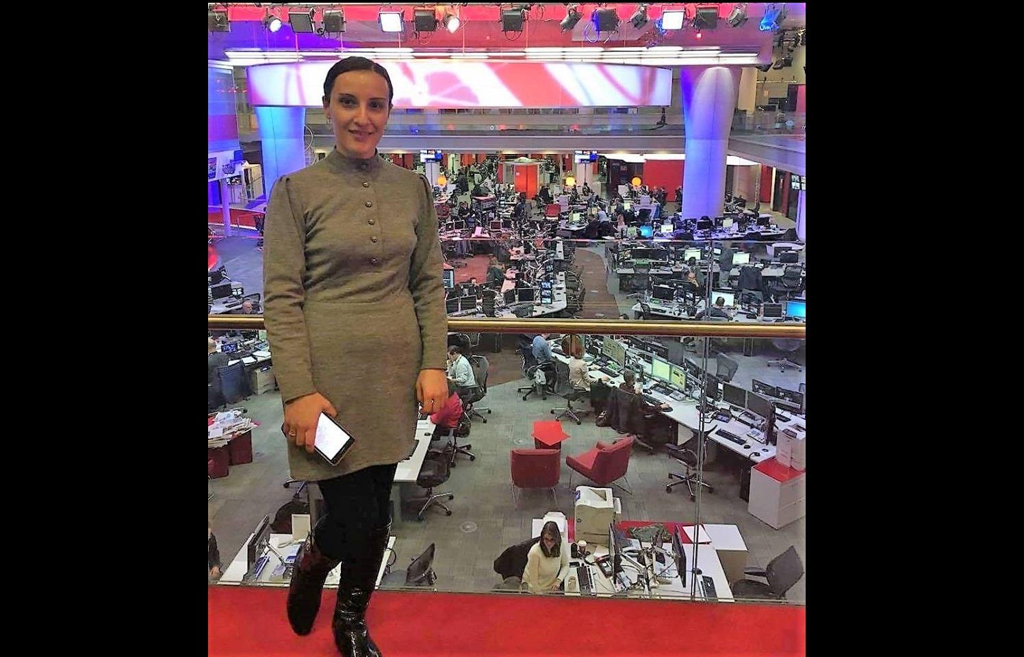 ნინო ჩიფჩიური BBC–ის სათაო ოფისში ვიზიტის დროს