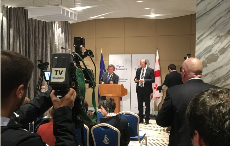 პრესკონფერენცია სასტუმრო ბილტომორში 2017 წლის 3 მაისი